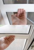 Poprzeczka stabilizująca moskitierę aluminiową drzwiową otwieraną za pomocą zawiasów samodomykających