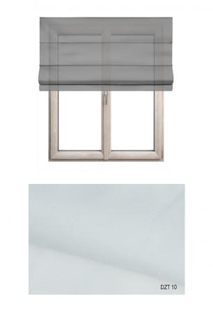 Roleta rzymska o gładkiej transparentnej tkaninie w kolorze białym (DZT10) na Twój wymiar.