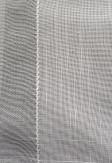 Roleta rzymska transparentna o lekko błyszczącej oraz delikatnej z ozdobnym splotem tkaninie na wymiar.