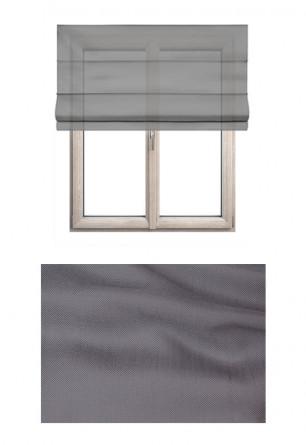 Roleta rzymska transparentna o gładkiej strukturze w kolorze szarym (WK108) na Twój dokładny wymiar.