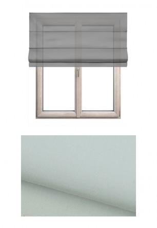 Roleta rzymska o gładkiej transparentnej tkaninie w kolorze beżowym (GI15) na wymiar.