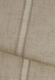 Roleta rzymska w tkaninie transparentnej o ozdobnych pionowych paseczkach o odcieniu brązowym (LT17).
