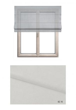 Roleta rzymska o tkaninie wykonanej z dwóch nici - jasnej i ciemniejszej w kolorze białym (SC10) na Twój dokładny wymiar.