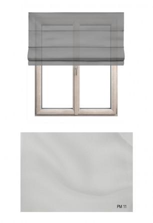 Roleta rzymska transparentna o gładkiej strukturze w kolorze ecru (PM11) na Twój dokładny wymiar.