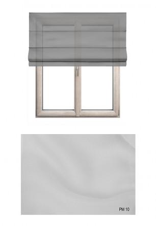 Roleta rzymska transparentna o gładkiej strukturze w kolorze białym (PM10) na Twój dokładny wymiar.