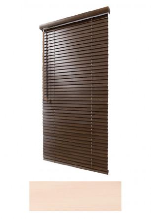 Żaluzja drewniana 25mm na wymiar w kolorze naturalnego drewna (BUK BIELONY) na wymiar.