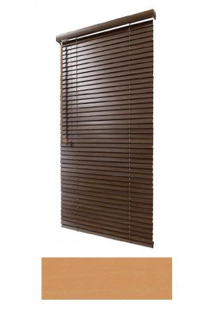 Żaluzja drewniana 25mm na wymiar w kolorze naturalnego drewna (KLON) na wymiar.