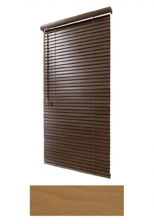 Żaluzja drewniana 25mm na wymiar w kolorze naturalnego drewna (JASNY DĄB) na wymiar.
