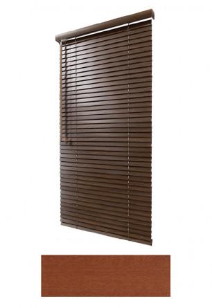 Żaluzja drewniana 25mm na wymiar w ciepłym kolorze naturalnego drewna (WIŚNIA) na wymiar.