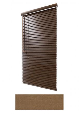Żaluzja drewniana 25mm na wymiar w kolorze naturalnego drewna (ORZECH) na wymiar.