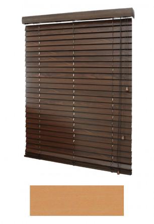 Żaluzja drewniana w kolorze naturalnego drewna (KLON) o lamelkach 50mm na wymiar.