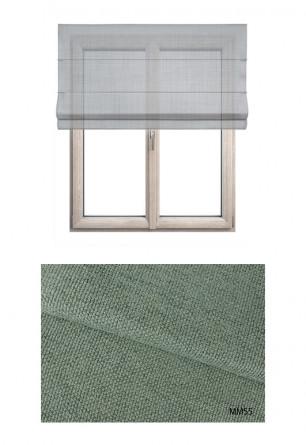 Zielona roleta rzymska MIESZKANIE MARZEŃ MM55