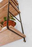 Ręcznie wykonana trzy poziomowa półka ścienna GRAŻYNKA wykonana ze sklejki oraz metalu.