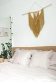 Elegancka przytulna pościel z falbaną w kolorze beżowym 200x220