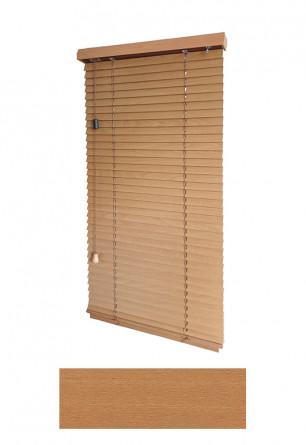 Żaluzja drewniana 25mm na wymiar w kolorze jasnego drewna (OLCHA) na wymiar.