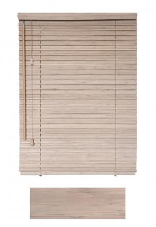 Żaluzja bambusowa w kolorze piaskowym 25mm na wymiar.