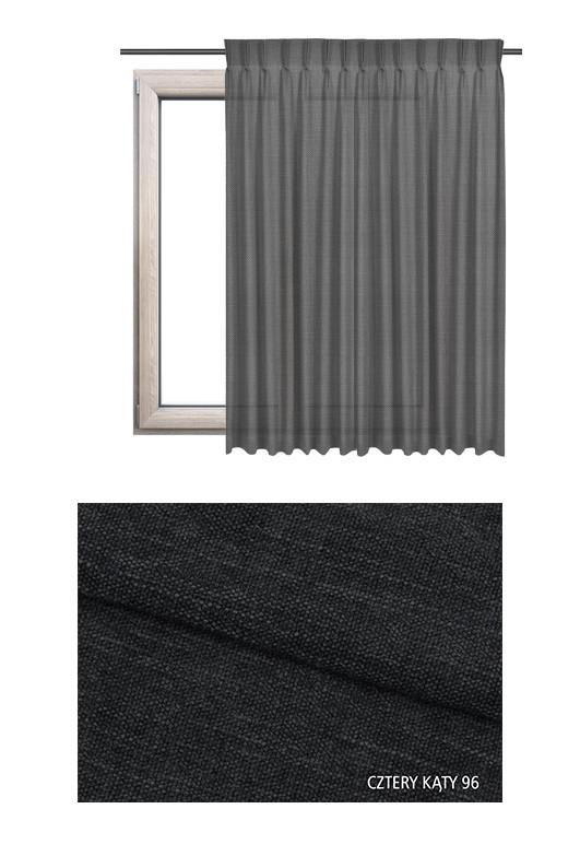 Zaciemniająca zasłona o czarnym odcieniu (CK96) w miękkiej tkaninie na wymiar.