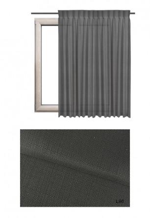 Zasłona na haczykach microfleks o ciemno szarym odcieniu kolorystycznym (L96) z kolekcji LOFT na wymiar.