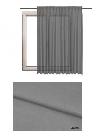 Zasłona transparentna na haczykach microfleks o szarym odcieniu (DNW90) w kolekcji DOM NA WSI na wymiar.