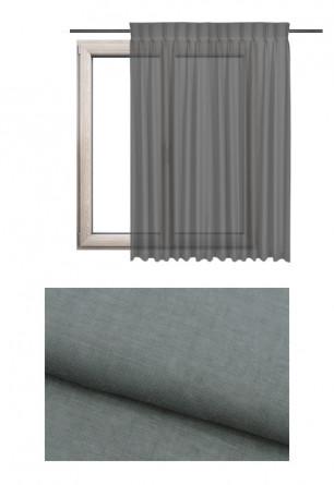 Zasłona transparentna na haczykach microfleks o odcieniu szarym (GI90) z kolekcji GOŚCINNA IZBA na wymiar