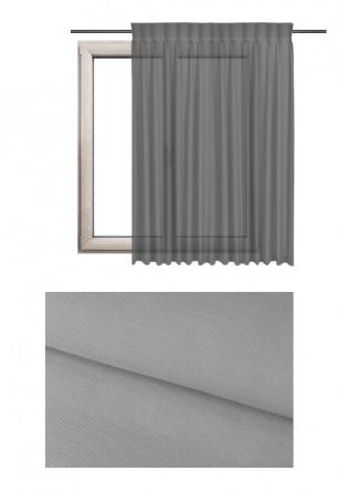 Zasłona transparentna na haczykach microfleks o szarym odcieniu (MC92) z kolekcji MORSKA CHATKA na wymiar