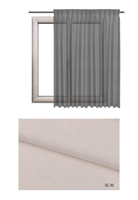 Tkanina wykonana z dwóch nici - jasnej i ciemniejszej w odcieniu różowym (SC45) na zasłony, firany i rolety rzymskie