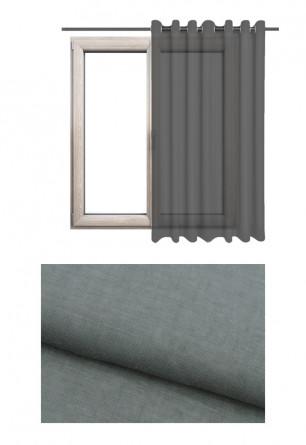 Zasłona transparentna na kołach o szarym odcieniu w kolekcji GOŚCINNA IZBA (GI90) na wymiar