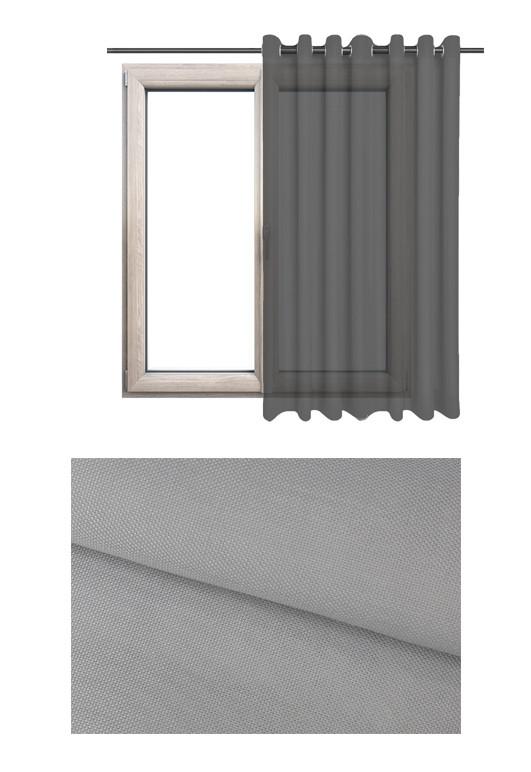 Półprzezierna zasłona na kołach o szarym odcieniu (MC92) z kolekcji MORSKA CHATKA na wymiar.