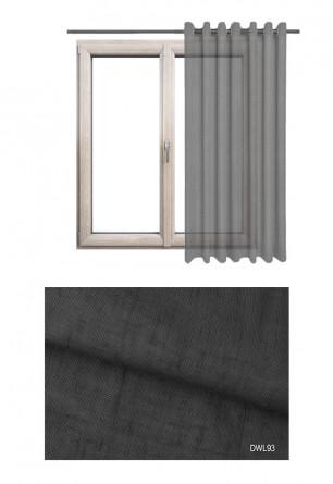 Zasłona na kołach o odcieniu antracytowym (DWL93) w kolekcji DOMEK W LESIE na wymiar.