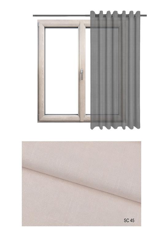 Zasłona transparentna na kołach w odcieniu różowym (SC45) na wymiar.