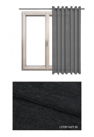 Zasłona na kołach o czarnym odcieniu (CK96) z kolekcji CZTERY KĄTY na wymiar
