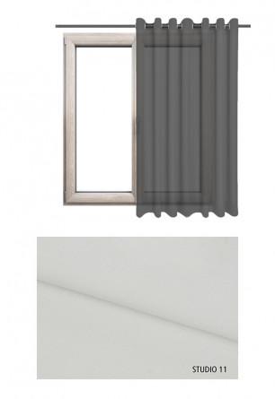 Zasłona transparentna na kołach w odcieniu ecru (S11) na wymiar.
