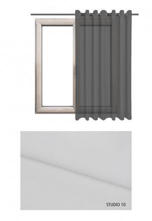 Zasłona transparentna na kołach w białym odcieniu (S10) na wymiar.