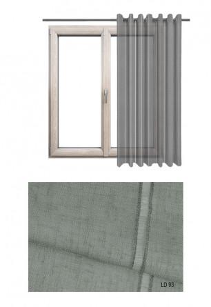 Ozdobna zasłona transparentna na kołach o szarym odcieniu (LD93) na wymiar.