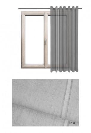 Ozdobna zasłona transparentna na kołach o szarym odcieniu (LD92) na wymiar.