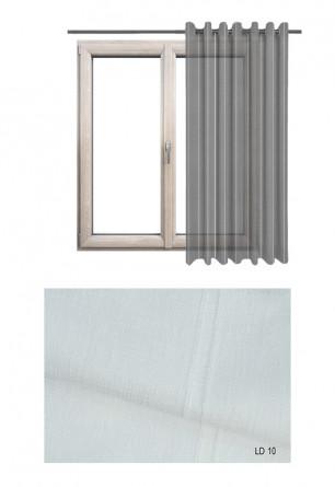 Ozdobna zasłona transparentna na kołach o białym odcieniu (LD10) na wymiar.