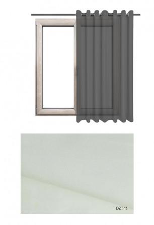 Gładka półprzezierna zasłona na kołach o ecru odcieniu w kolekcji DOM Z TRADYCJAMI (DZT11) na wymiar
