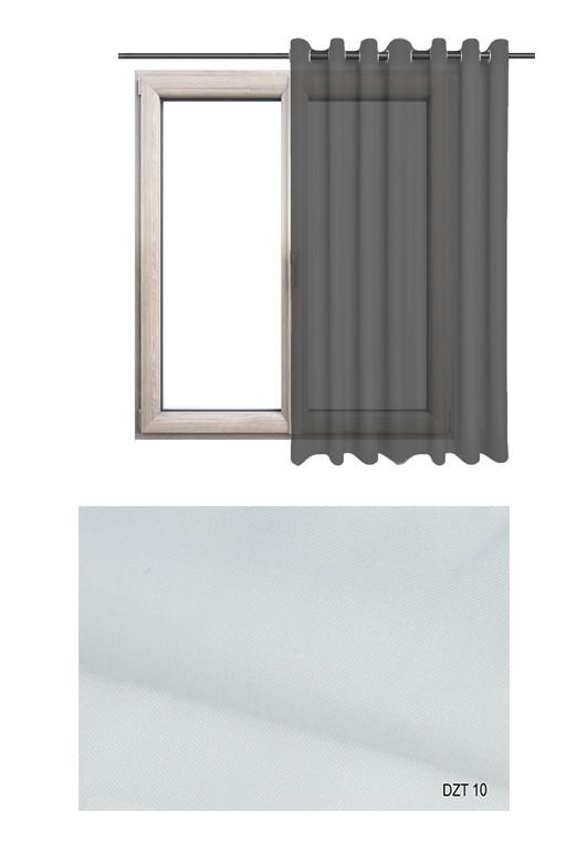 Gładka półprzezierna zasłona na kołach o białym odcieniu w kolekcji DOM Z TRADYCJAMI (DZT10) na wymiar