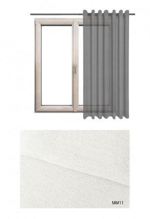 Zasłona półprzezierna na kołach w białym odcieniu w kolekcji MIESZKANIE MARZEŃ (MM11) na wymiar