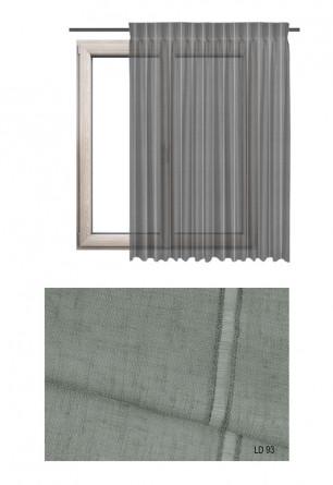 Ozdobna tkanina transparentna w pionowe paski o szarym odcieniu (LD93) na zasłony, firany oraz rolety rzymskie.