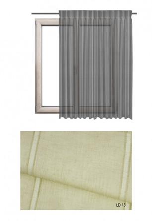 Zasłona transparentna na haczykach microfleks w ozdobnej tkaninie o beżowym odcieniu (LD18) na wymiar.