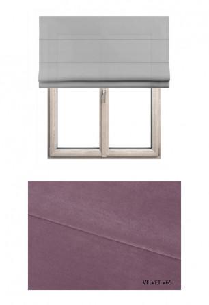Roleta rzymska zaciemniająca o fioletowym odcieniu kolorystycznym (V65) w kolekcji VELVET na wymiar.