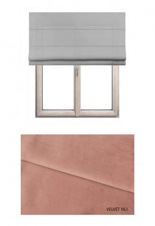 Roleta rzymska zaciemniająca o różowym odcieniu kolorystycznym (V61) w kolekcji VELVET na wymiar.