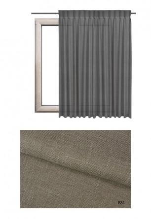 Zasłona na haczykach microfleks o brązowym odcieniu kolorystycznym (B81) z kolekcji BOHO na wymiar.