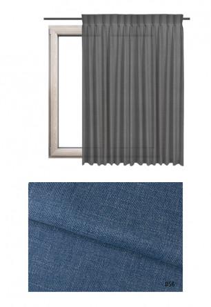 Zasłona na haczykach microfleks o niebieskim odcieniu kolorystycznym (B56) z kolekcji BOHO na wymiar.