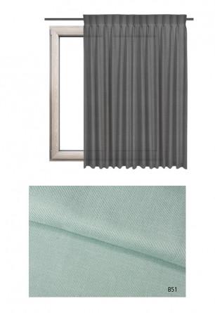 Zasłona na haczykach microfleks o niebieskim odcieniu kolorystycznym (B51) z kolekcji BOHO na wymiar.