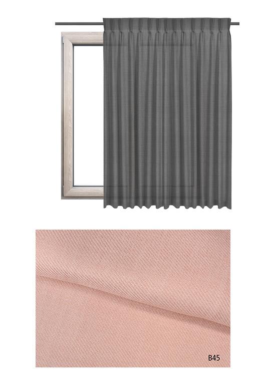 Zasłona na haczykach microfleks o różowym odcieniu kolorystycznym (B45) z kolekcji BOHO na wymiar.