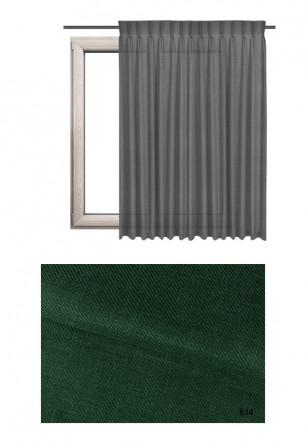 Zasłona na haczykach microfleks o zielonym odcieniu kolorystycznym (B34) z kolekcji BOHO na wymiar.