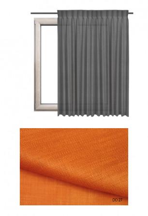 Zasłona na haczykach microfleks w tkaninie o pomarańczowym odcieniu (DO27) z kolekcji DOMOWA OSTOJA na wymiar.