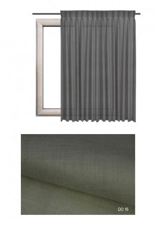 Zasłona na haczykach microfleks w tkaninie o piaskowym odcieniu (DO16) z kolekcji DOMOWA OSTOJA na wymiar.